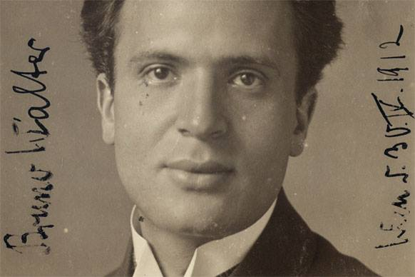 Photo portrait of a young Bruno Walter