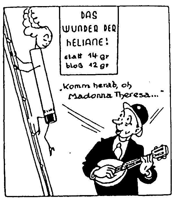 """Komm herab, oh Madonna Theresa' cartoon"