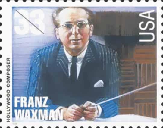 Franz Waxman portrait from US stamp