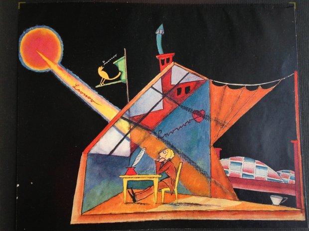 Ludwig Sievert's design for Ernst Krenek's opera 'Der Sprung über den Schatten'