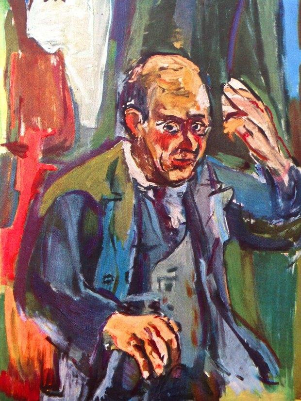 Schoenberg portrait by Kokoschka