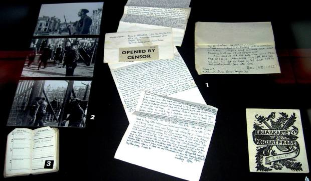 Letters checked by WWII Brit censor