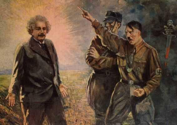 Illustration: Einstein vs Hitler