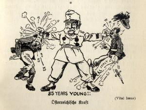 Propaganda poster from Austria during the First World War
