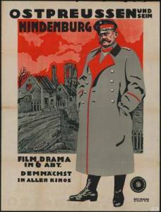 A first world war propaganda film on Hindenburg and East Prussia