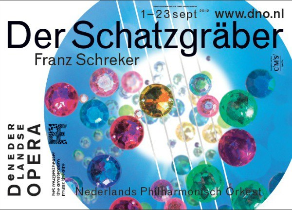 Poster for Schreker's Der Schatzgräber, performed at the De Nederlandse Opera