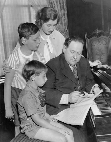 Erich Wolfgang Korngold and family in New York in 1935