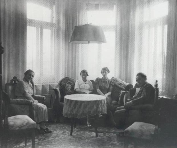 Erich Zeisl's family in Baden on the night before they left Austria.