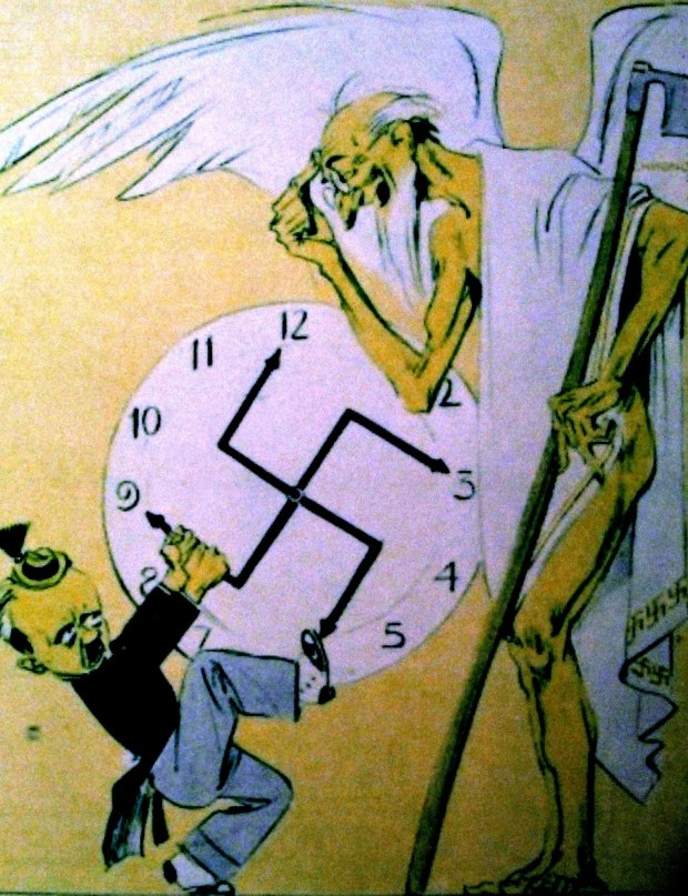 cartoon: Dollfuss vs Hitler