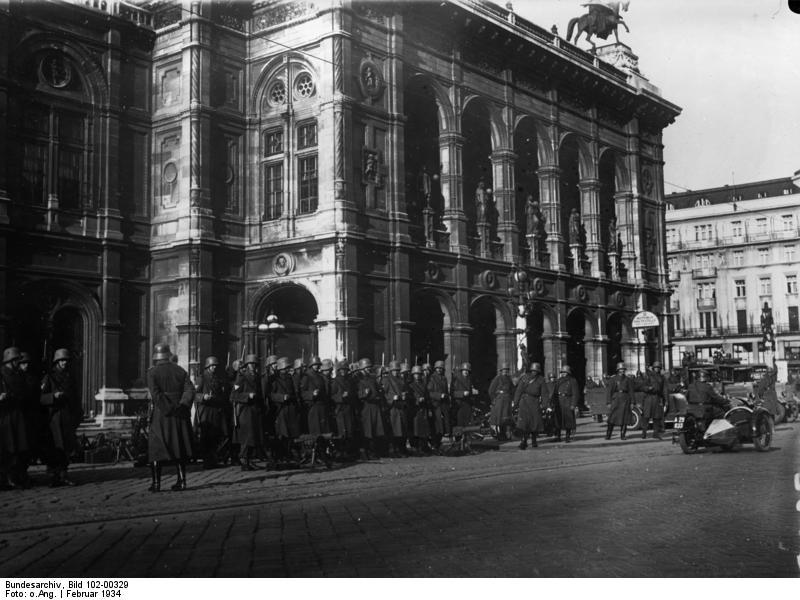 Wien, Februarkämpfe, Bundesheer