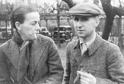 Brecht and his wife Helene Weigel