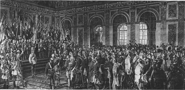The Coronation of Wilhelm I as German Emperor in Versailles 1871