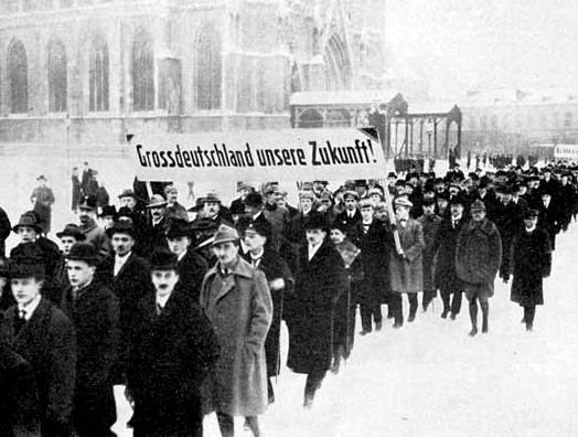 1919 Demonstration in support of Austrian annexation into Greater Germany