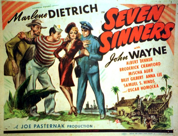 Friedrich Holländer's 'The Seven Sinners' from 1940