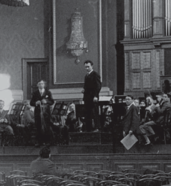 Feb. 1933, Dresden: rehearsals of Gál's violin concerto with Fritz Bu