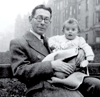 Hans Gál with daughter Eva in Edinburgh 1944