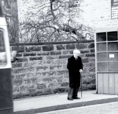 The last photo of Hans Gál in Edinburgh 1987