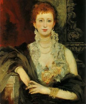 Hans Makart's portrait of Clotilde Beer