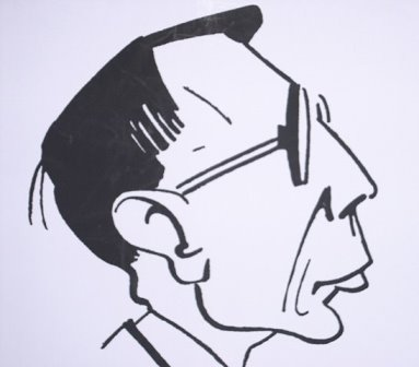Caricature of Hans Gál