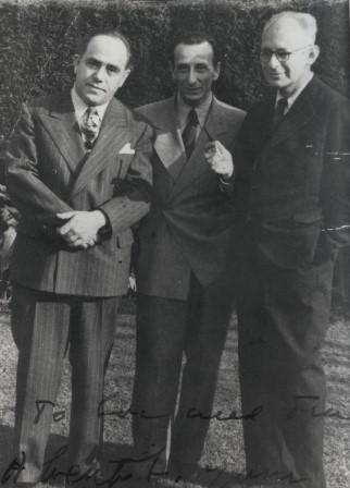 Zeisl with Tansman and Castelnuovo-Tedesco