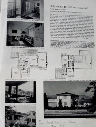 The Toch home as featured in Architectural Forum