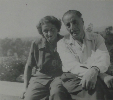 Casual Snap of Ernst and Lilly around 1940