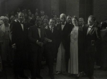 Toch with Count von Fürstenberg at the Doneschingen music festival 1922