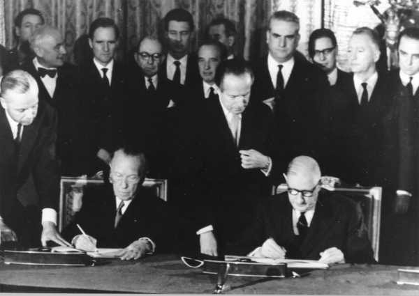 The German French accord of 1963 that stabilised political relations between the two neighbouring states.