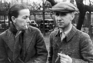 Schwarzwald alumna Helene Weigel with husband Bertolt Brecht 1938 in Copenhagen