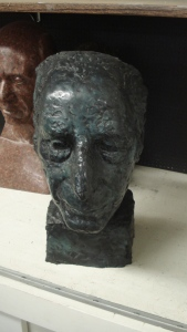 Anna Mahler bust of Toch