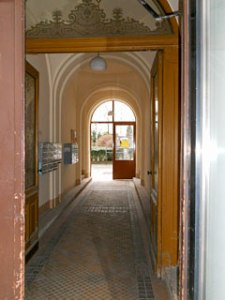 The Entrance to Schwarzwald's home in Vienna's VII District