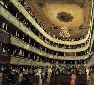 Gustav Klimt's Das alte Burgtheater Wien, 1888