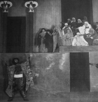 Rehearsal shot of 'Alkestis' in Mannheim 1924