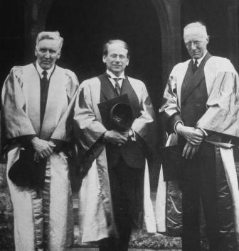 Doctorate in Oxford in 1932: left to right: Henry Colles, Egon Wellesz and Edward Dent