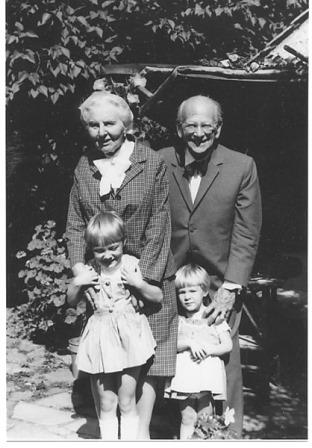 Egon and Emmy with grandchildren Michelle Claire and Philippa Mackenzie