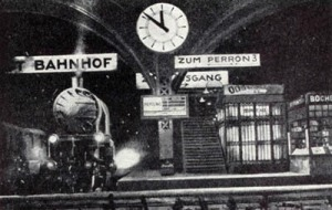 Oskar Strnad's Vienna State Opera set for Ernst Krenek's 'Jonny spielt auf!' 1928