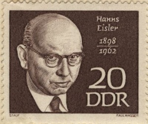 Eisler stamp issued by the German Democratic Republic