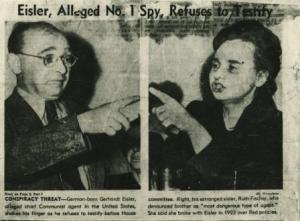 Gerhart Eisler and Ruth Fischer in conflict