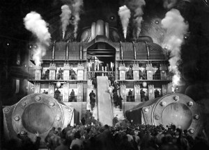 Fritz Lang's film 'Metropolis' was the model for Brand's 'Maschinist Hopkins' with sets that recalled Lang's dystopian factories