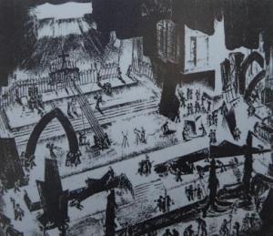 Felix Hänsch's design for Berlin performance of 'Der singende Teufel'