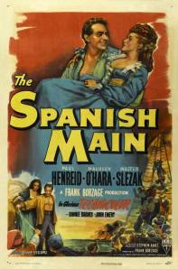 Poster for 'The Spanish Main' 1945