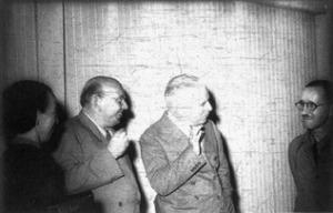 Helene Weigel, Hanns Eisler, Bertolt Brecht and Charlie Chaplin