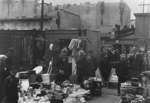 The market place in the Łodź Ghetto