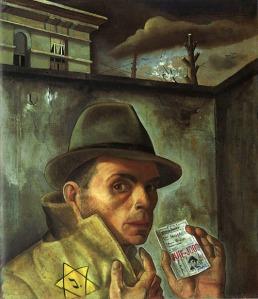 Felix Nussbaum - self portrait as a Jew