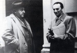 Joseph Marx meets his former pupil Herbert Zipper, composer of the Dachau Song
