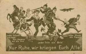 Propaganda postcard against the Entente