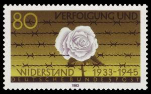 German Stamp remembering the anti-Nazi 'White Rose' movement