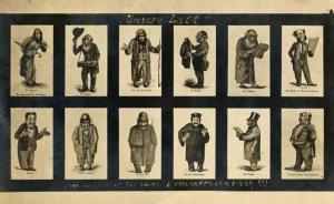 Anti-Semitic postcard showing different 'Jewish Types'