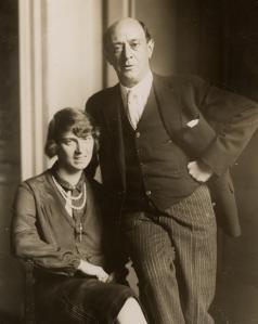 Arnold Schoenberg with wife Gertude née Kolisch, still in Europe