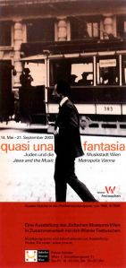 Poster for the exhibition 'Quasi una fantasia' at Vienna's Jewish Museum, 2003